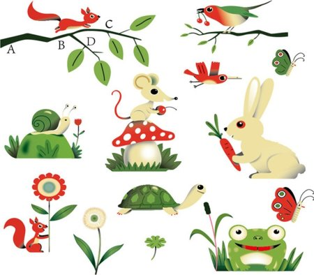 adesivi murali tema animali