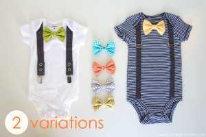 onesie with snap on bowtie