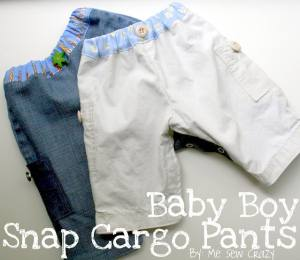 snap up baby cargo pants