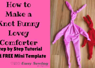 How to Make a Knot Bunny Baby Lovey Comforter
