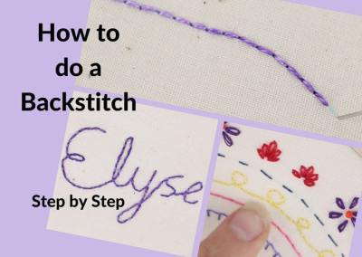 The Backstitch for Hand Embroidery