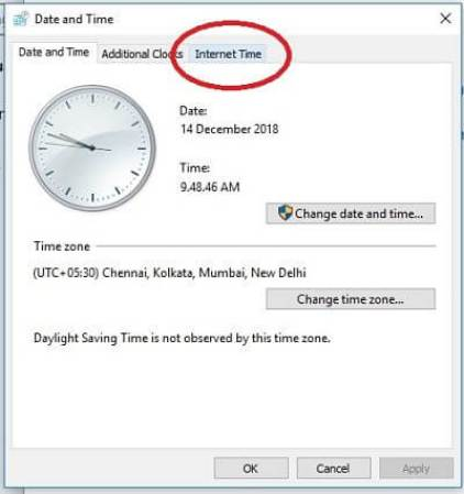 fix time and date on computer