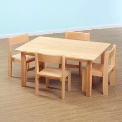 table rectangulaire et chaises en hetre massif