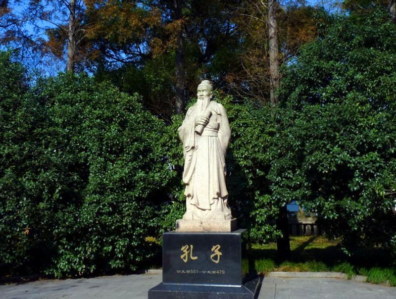 Confucius sculpture in Shanghai