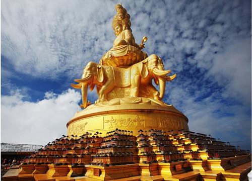 Samantabhadra Bodhisattva Golden Statue on Mt. Emei