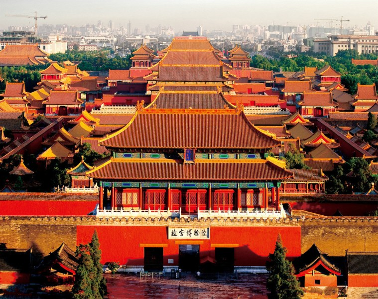 Full View of Forbidden City Beijing  Beijing Palace Museum Images     Full View of Forbidden City Beijing