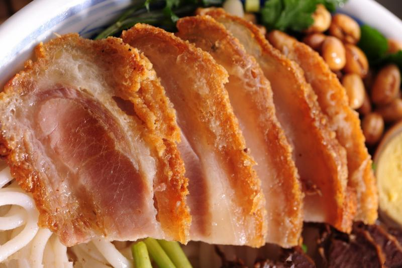 Fried Pork Meat for Guilin Rice Noodles