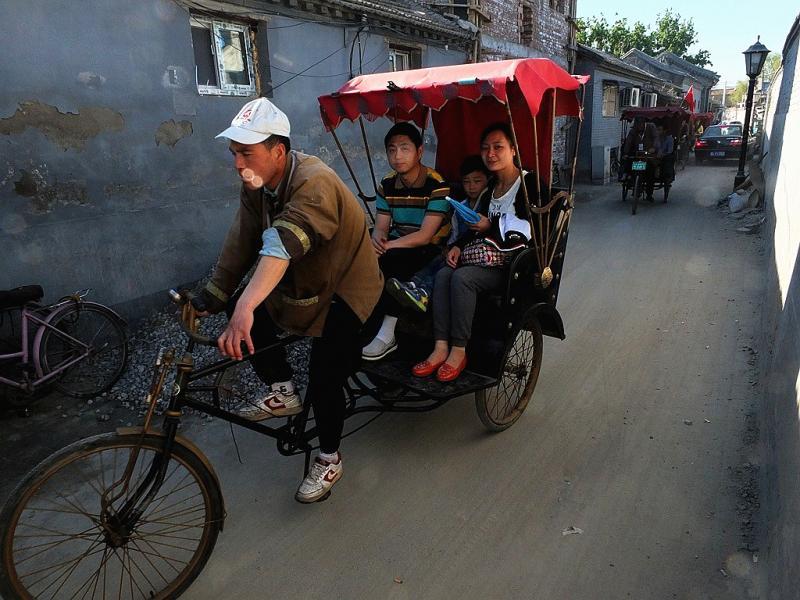 Beijing hutong pedicab tour