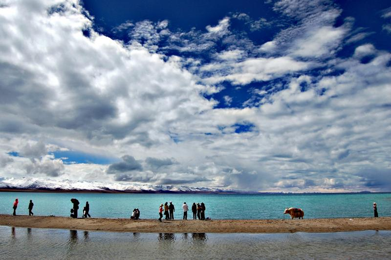 Tibet Namtso Lake hiking