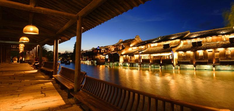 Wuzhen Water Town night view