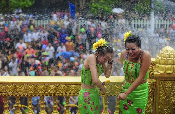 Yunnan Water-Splashing Festival 2013, Dai People Water-Splashing Festival 2013