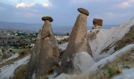 Cappadocia Turkey high chimneys