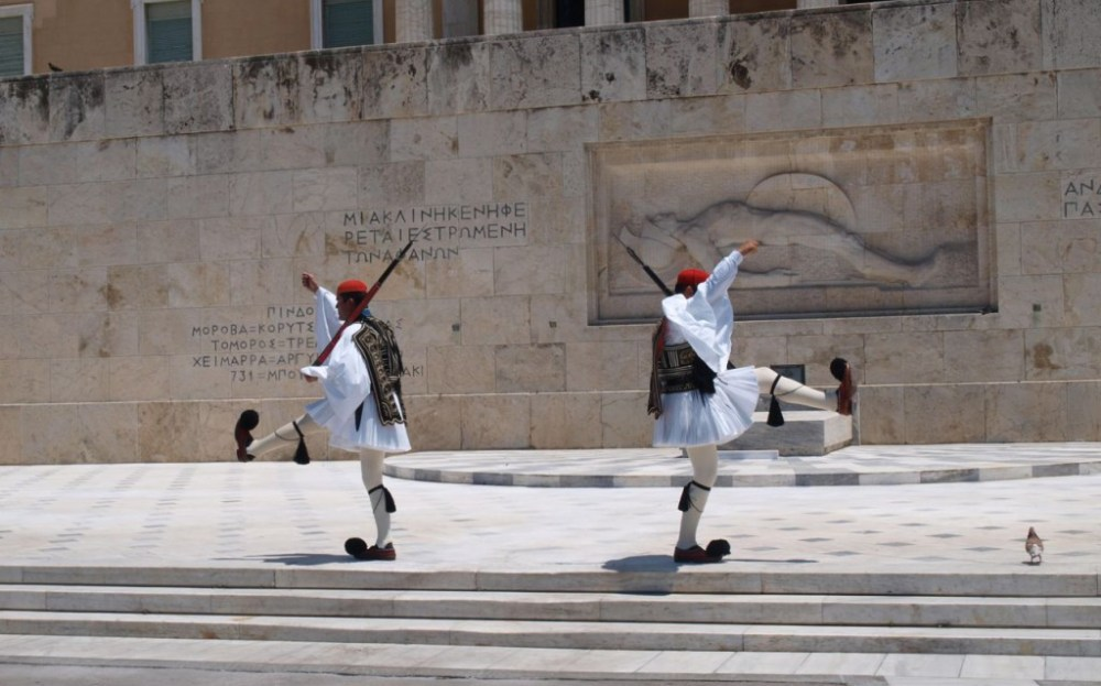 Athens_Greece_The_Evzones_Unknown_Soldier_Monument