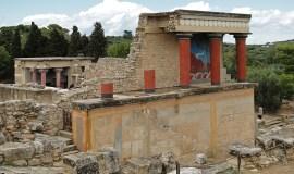 Heraklion, isla de Creta, Grecia, palacio de Knossos