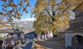 Papigo Epirus Greece Panoramic View