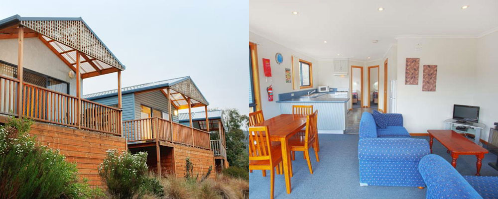 Superior Cabin Accommodation at the Discovery Holiday Park Hobart