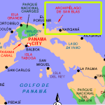 Map of San Blas Islands
