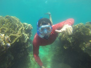 Snorkeling in the Caribbean at Portobelo