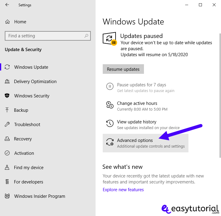 Disable Stop Turn Off Windows Update 10 Service 3 Advanced Options