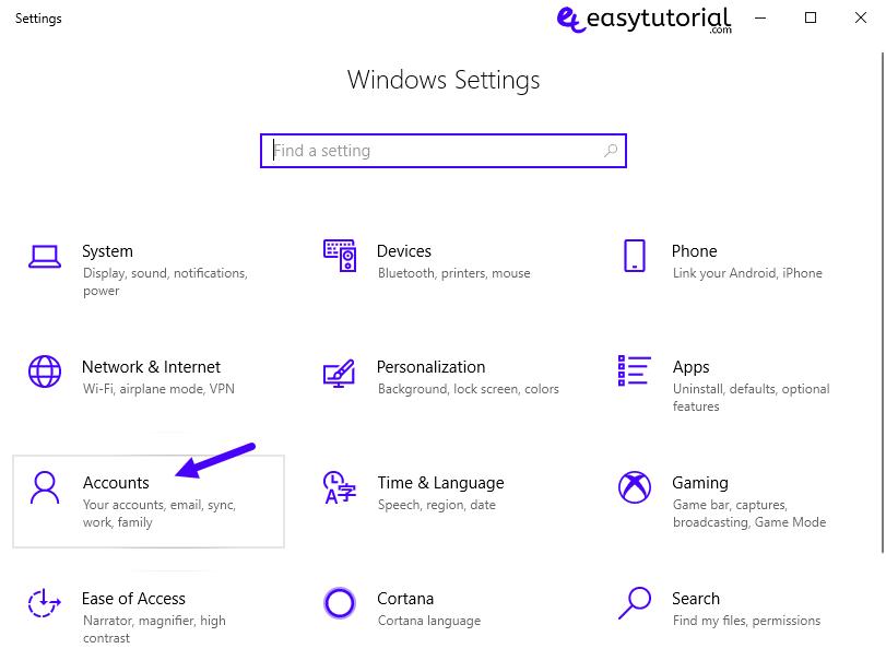 Fix Start Menu Doesnt Open Problem Solution Solved Windows 10 5 Settings Accounts