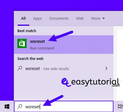 Fix Repair Fixed Solved Microsoft Store Windows 10 1 Wsreset Start