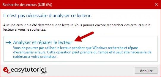 Reparer Cle Usb Memoire Illisible Ne Marche Pas Windows 10 14 Analyser Reparer Lecteur
