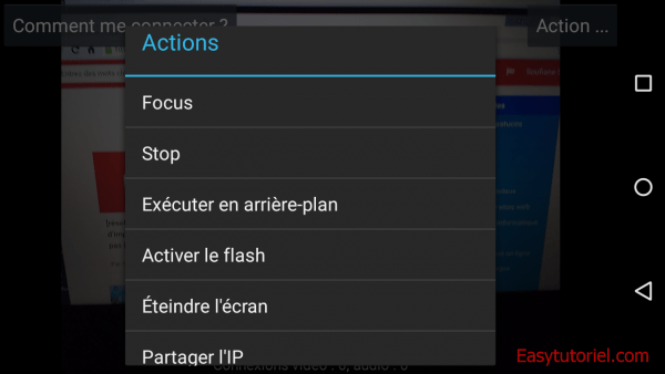 10 actions focus stop ip webcam android live