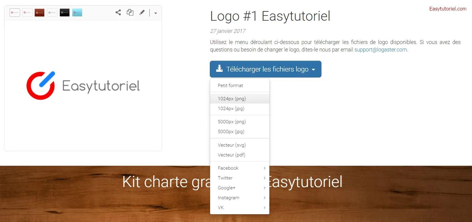 8 Logaster Creer Logo En Ligne Kit Charte Graphique