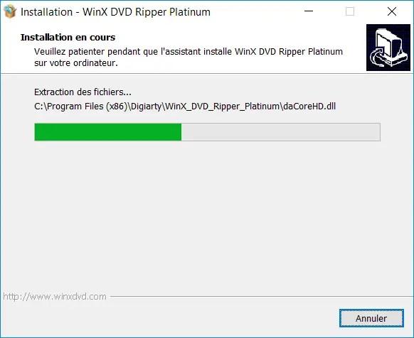 Winx Dvd Ripper Platinium 5 Installation En Cours