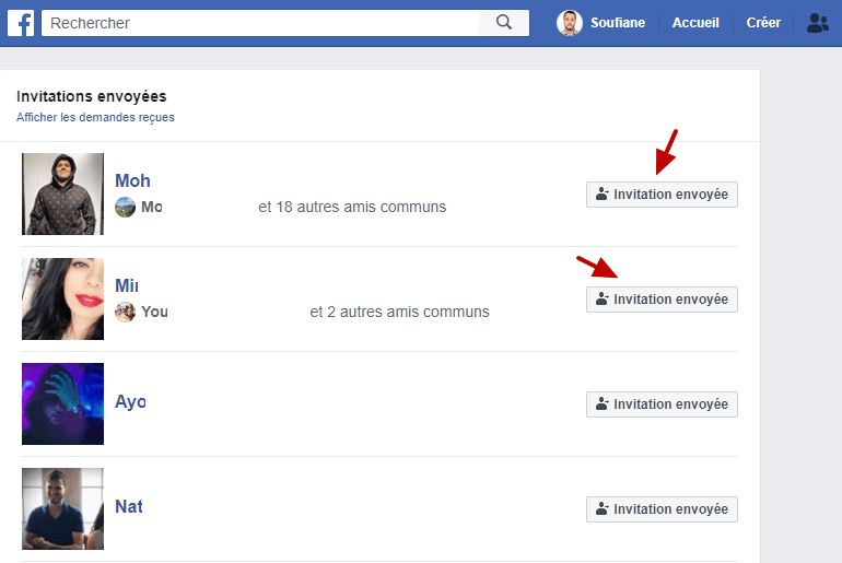Invitations Envoyees Facebook