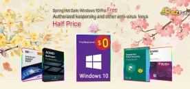 Clé OEM Windows 10 Pro gratuite et clé antivirus Kaspersky autorisée à moitié prix !