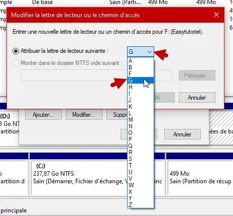 Changer Lettre Disque Partition Peripherique Windows 10 5