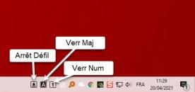 Afficher l'état des touches Verr Maj et Verr Num sur Windows 10