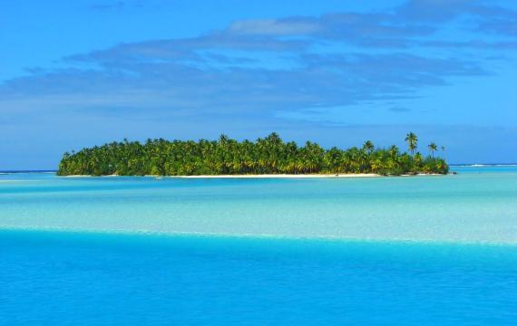 El lago de Aitutaki : La laguna de Aitukaki - Islas Cook