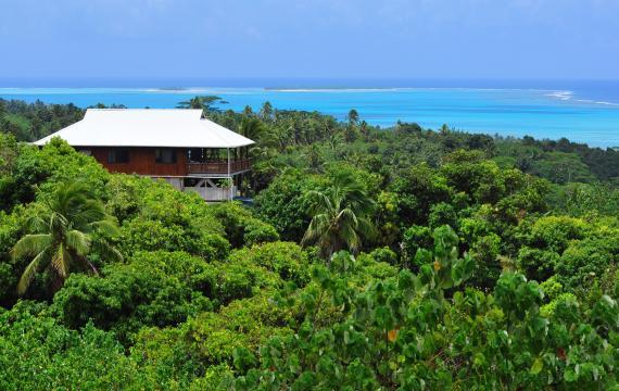 El lago de Aitutaki - Islas Cook