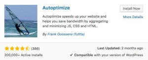 Autoptimize WordPress plugin to speed up your web site