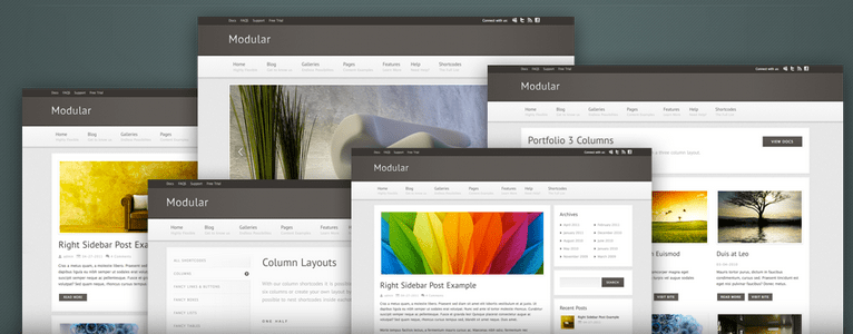 The Modular WordPress theme from Mysite myway