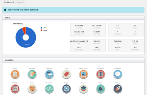WP Qore dashboard screen