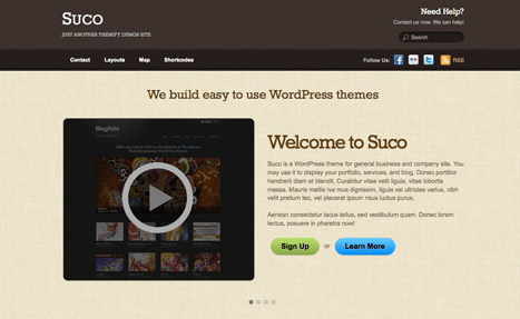 Installing sample content for Suco