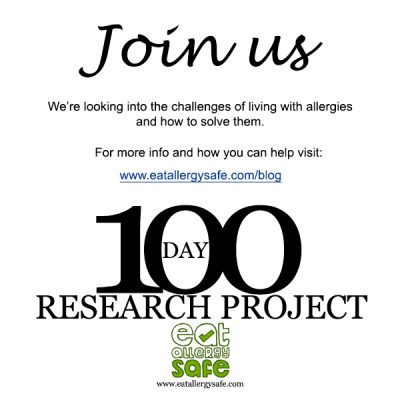 What's your BIGGEST Allergy Challenge? – 100 Day Research Project