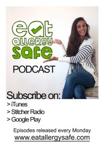 The Eat Allergy Safe Podcast is available in iTunes free from, gluten free, allergy awareness, anaphylaxis