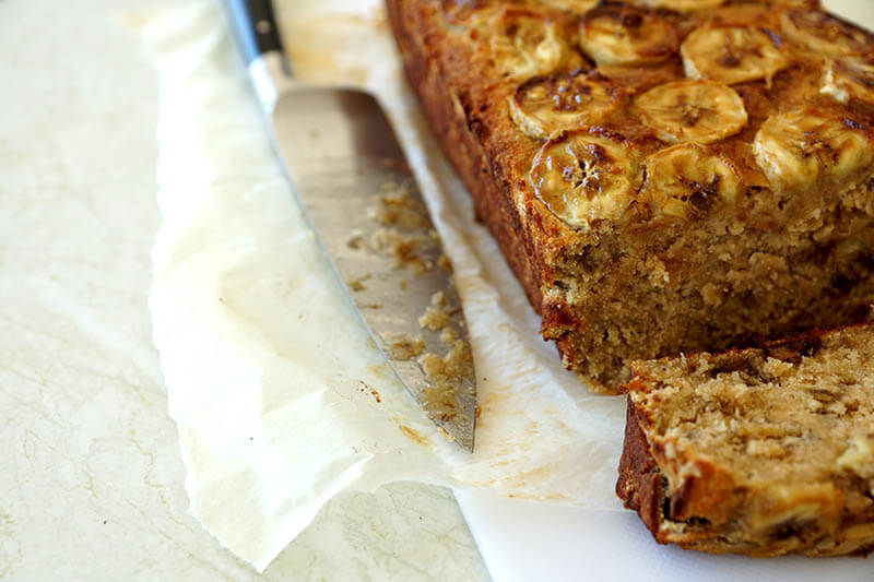 Squidgy Banana Loaf with Coconut Sugar (Gluten Free, Dairy Free, Egg Free, Nut Free)
