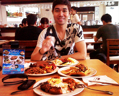 Michael at Somethin Fishy Eastwood City Restaurant