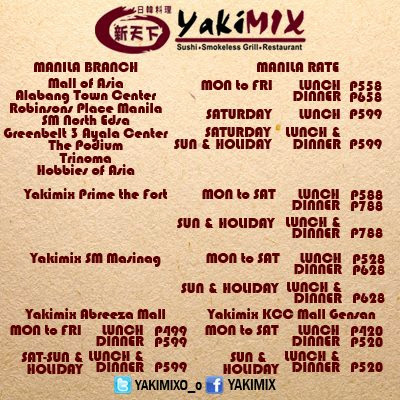 Eat All You Can Birthday Promo - Yakimix
