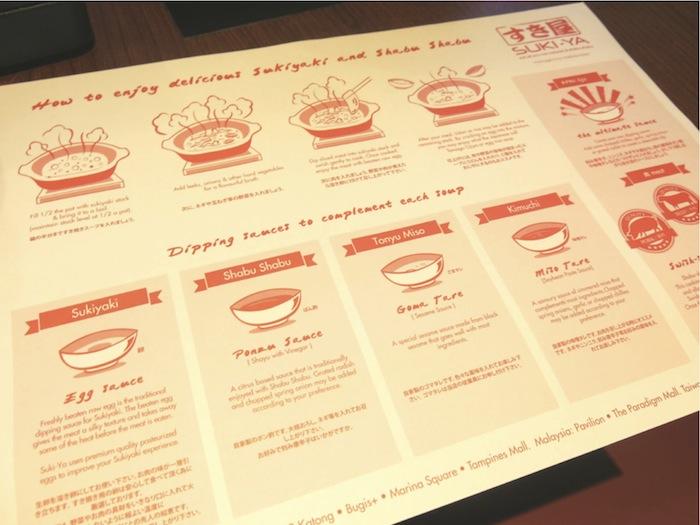 suki-ya instructions on how to prepare sukiyaki and shabu shabu