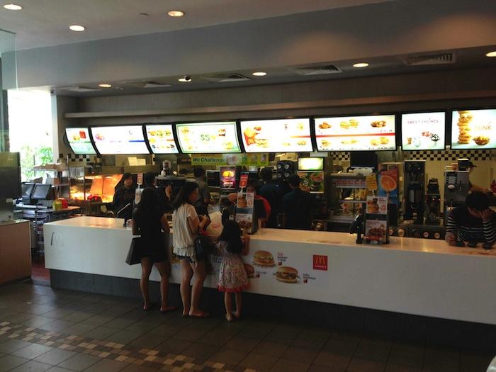 King Albert Park (KAP) McDonald's counter at Bukit Timah, Singapore