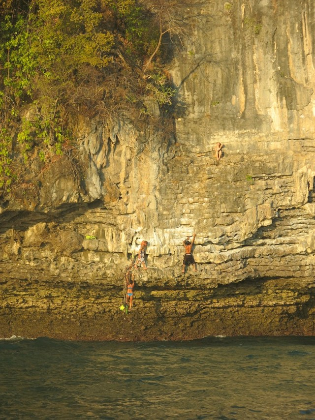 Krabi Sunset Cruises Cliff Climbing
