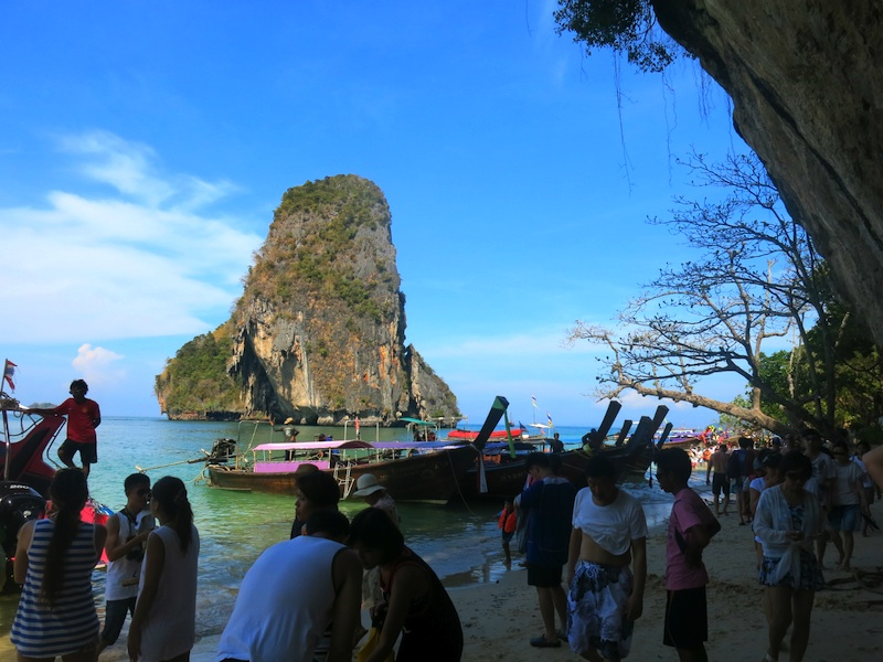 Phra Nang Beach Crowded