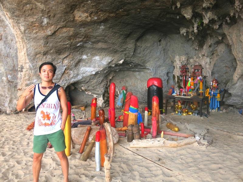 Phra Nang Cave Phallic and Penis Statues