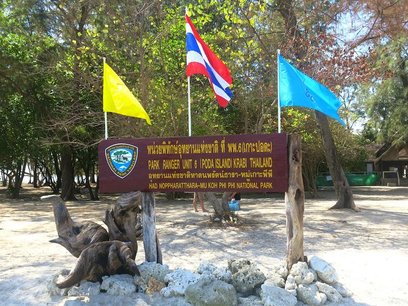 Poda Island Signboard